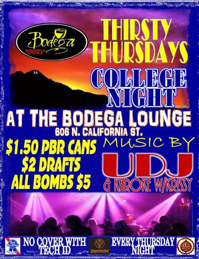 Thirsty Thursday at the Bodega Lounge