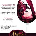Beaujolais Nouveau wine party at Bodega Burger Co., Socorro NM